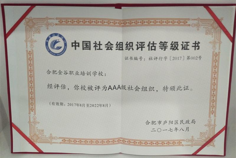 AAA级(3A)等级社会组织称号